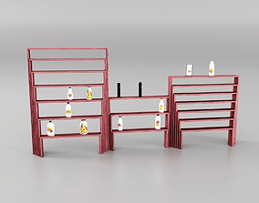 Shop Shelves 3D model game-ready