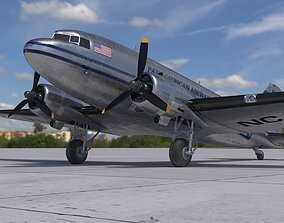 DC-3 Pan American Airways System 3D asset