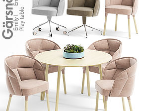 3D Garsnas Emily I and II armchair and Play table