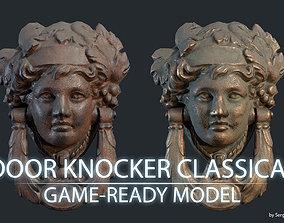 Door Knocker Classical 3D asset rigged
