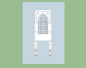 indian stone jharokha 3d modal Low-poly 3D rigged