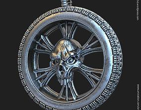 3D print model Biker Skull vol10 pendant jewelry