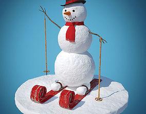 Snowman skier 3D