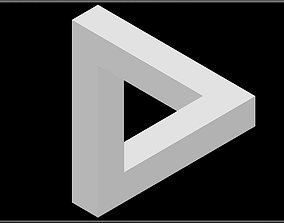 3D asset Impossible Geometry - Penrose triangle
