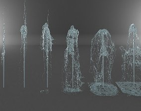 Water Jet Exterior Fountains Pack 3 3D model
