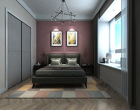 Child Bedroom with Pink Walls 3D