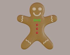 3D asset Gingerbread Man