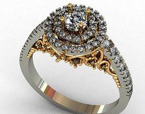 3D printable model rhinoceros Diamond ring
