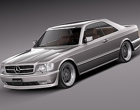Mercedes-Benz W126 560 SEC AMG 1991 expensive 3D model