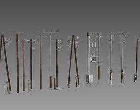 powerline Electric Pole 3D model