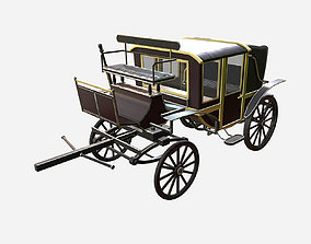 3D model PBR Horse Carriage