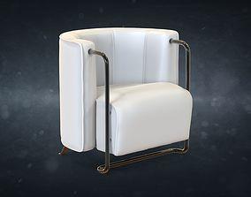 3D asset Art-deco chair