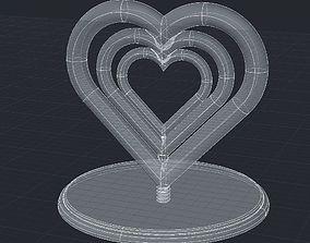 3D print model A nice rotating hearts statue