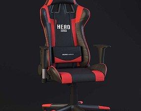 PC Gamer Chair Red Hero pc 3D model