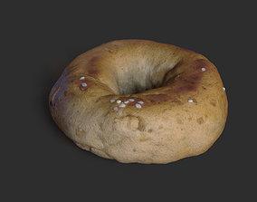 Plain Bagel Bread 3D