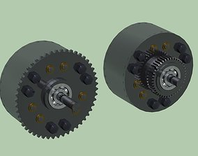 Planetary gear differential 3D model