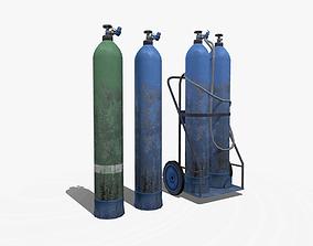 3D model realtime Gas Cylinder