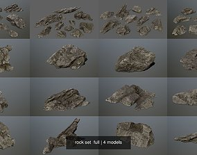 rock set full cliff 3D