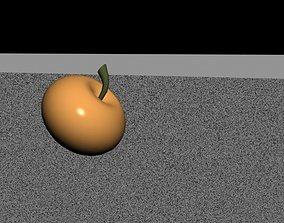 Apple 3D model rendered