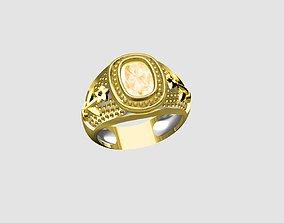 3D print model silver gents ring