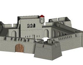 Vauban Fortress basis pentagon star 3D printable model