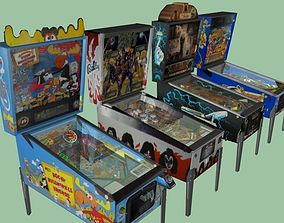 Pinball Machine Collection 3D Model