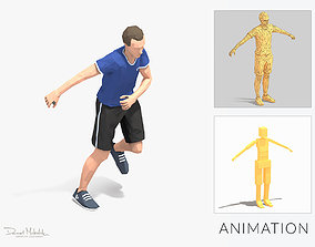 3D asset Lateral jump Exercise Man Animation