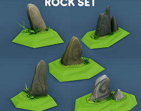 3D asset Rocks for Game Environment