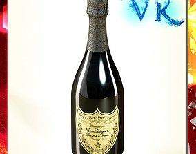 Champagne Dom Perignon Bottle 3D