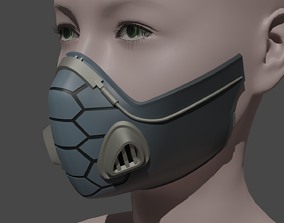 VIPER GAS MASK RESPIRATOR FROM VALORANT FOR 3D