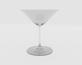 3D Cocktial glass