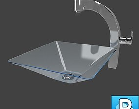 3D Sink and faucet armature