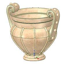 amphora greek cup vessel vase v05 for 3d print and cnc