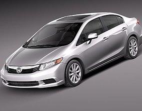 3D model Honda Civic Sedan Usa 2