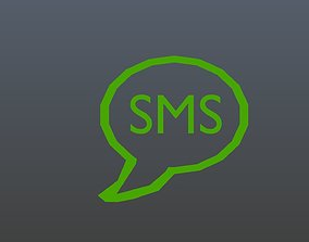 Low poly SMS 3D model