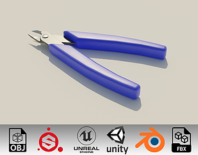 Wire cutters tool 3D model