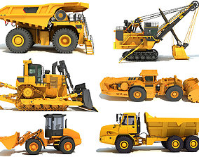 3D Industrial and Mining Vehicles