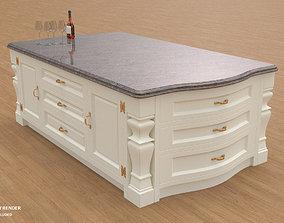 3D Georgian Kitchen Island