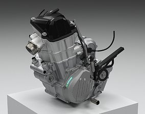 3D model KTM EXC 450-500 4-STROKE ENGINE