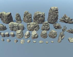 3D asset Rock pack