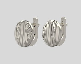 3D printable model Earrings folds