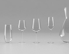 3D model Glass set water