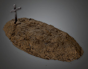Cemetery Grave 1 - CEM - PBR Game Ready 3D asset