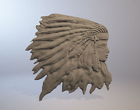 3D print model Bas-relief of the Indian