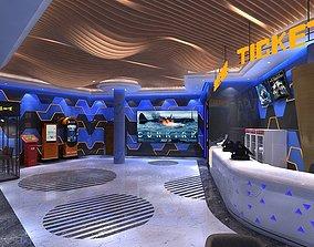 Cinema Lobby 3D model