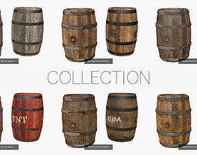 3D model Wooden Barrel Assets Collection