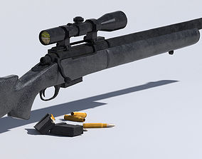 M24 Sniper Rifle Low-poly 3D VR / AR ready