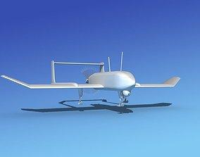 3D model Mohajer 4 Drone Bare Metal