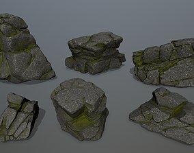3D model realtime rocks mount snowy