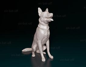 German Shepherd dog 3D print model